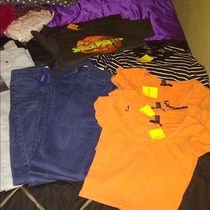 T shirts, Bathing suits,Jean shorts, pink Sets